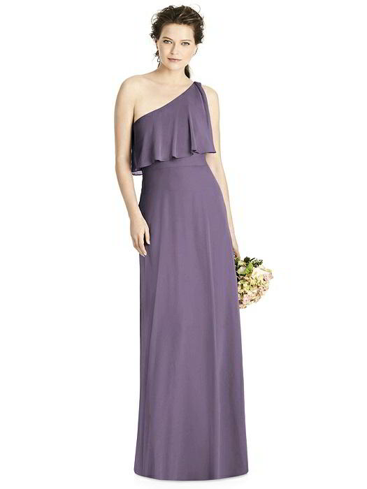 Flowy One Shoulder A-line Chiffon Bridesmaid Dress