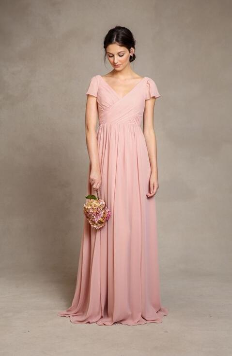 Pink short bridesmaid dresses discount wedding dresses for Pink wedding dress short