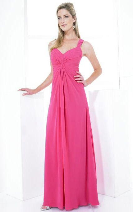 Sleeveless Chiffon A-line Zipper Empire Bridesmaid Dresses