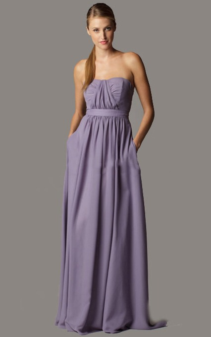 Empire Sleeveless A-line Strapless Floor-length Bridesmaid Dresses