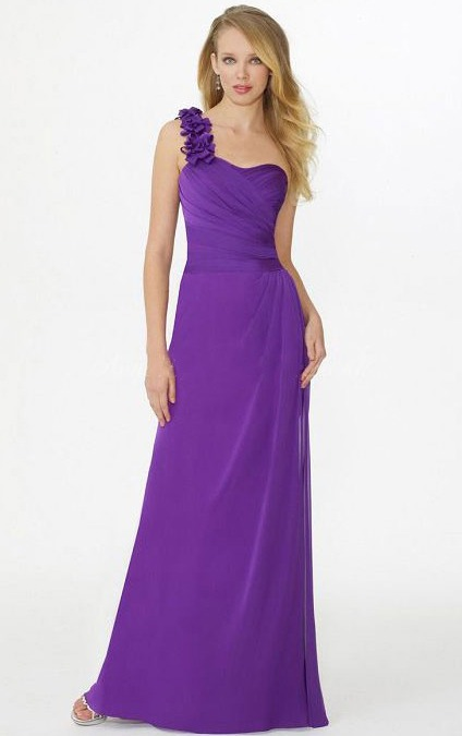 Natural Chiffon A-line Floor-length Sleeveless Bridesmaid Dresses