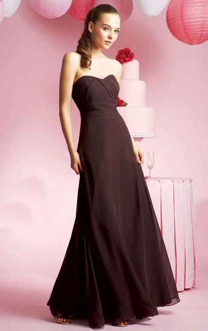 Zipper Sweetheart Chiffon Natural Floor-length Bridesmaid Dresses