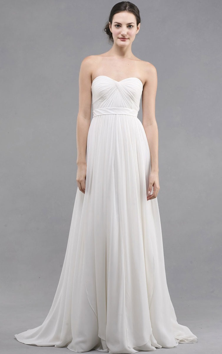Strapless Buttons A-line Floor-length Natural Bridesmaid Dresses