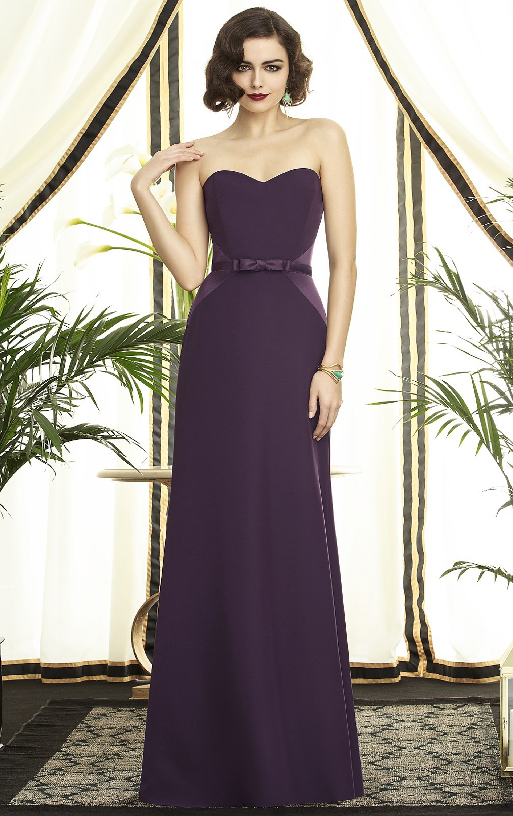 Sleeveless Sweetheart Floor-length A-line Chiffon Bridesmaid Dresses