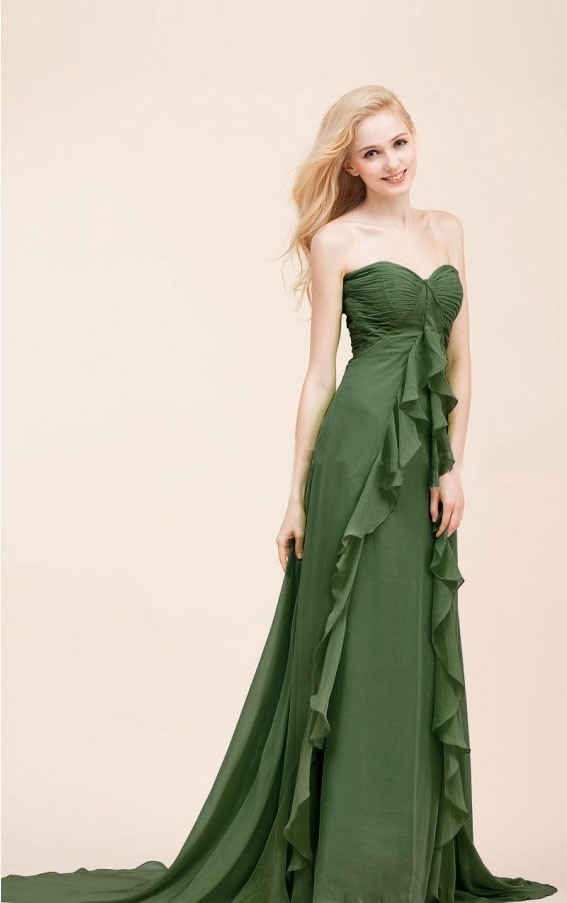 Sweetheart Chiffon Floor-length Dropped Sleeveless Bridesmaid Dresses