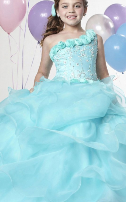 Organza Ball Gown Zipper Natural Sleeveless Flower Girl Dresses