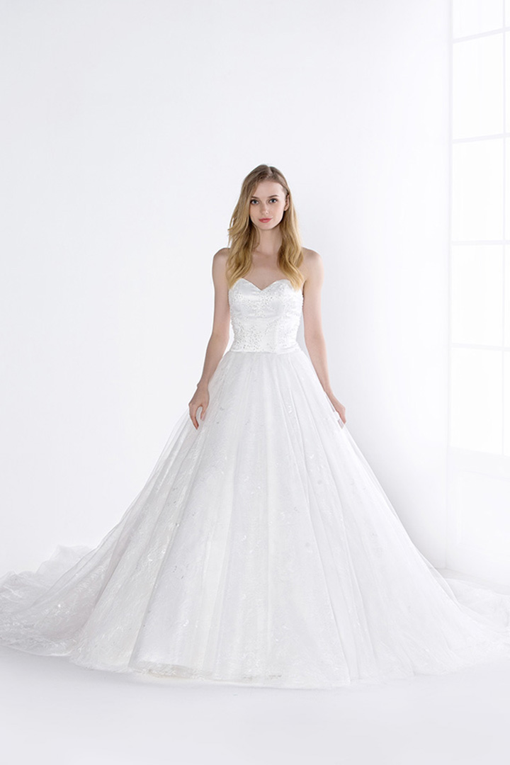 Ball Gown Sweetheart Beading Sweep/Brush Train Wedding Dresses