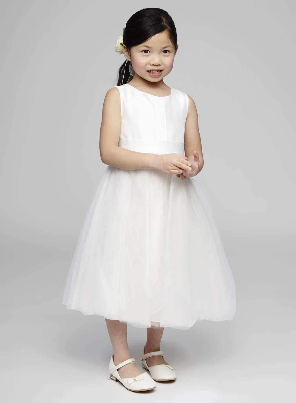 Plain White Flower Girl Dresses Image Collections Flower