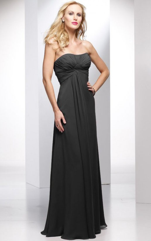 Floor-length Strapless Sleeveless Empire A-line Bridesmaid Dresses