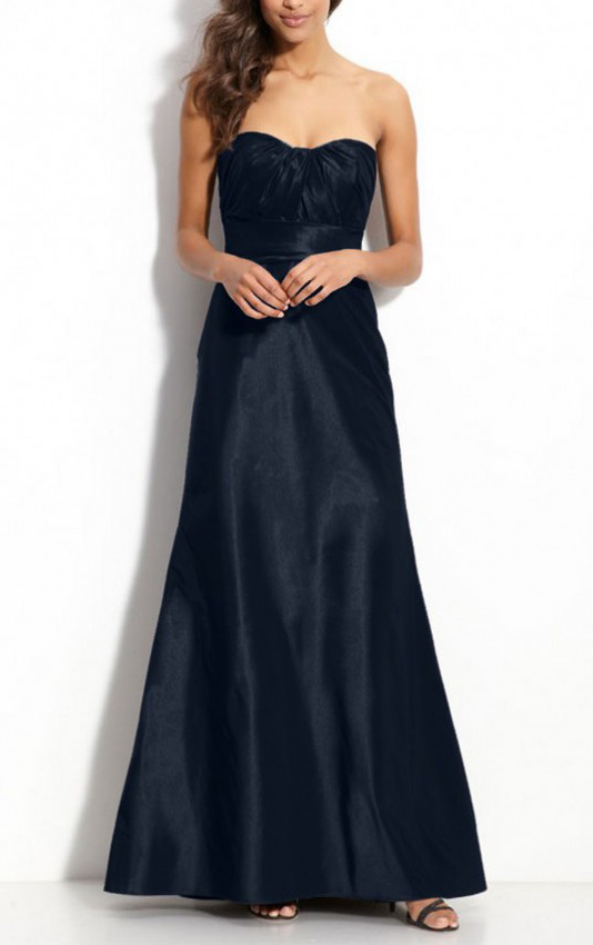 Empire Ankle-length Satin Sweetheart A-line Bridesmaid Dresses