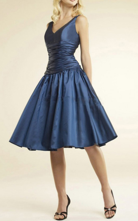 Princess Sleeveless Natural Zipper Taffeta Bridesmaid Dresses