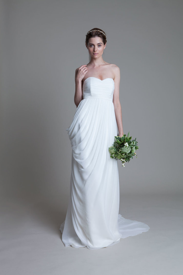 Wedding Dresses  High Street : Home high street wedding dresses strapless drapping long