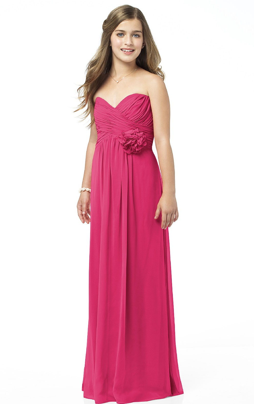 Empire A-line Floor-length Sleeveless Chiffon Bridesmaid Dresses