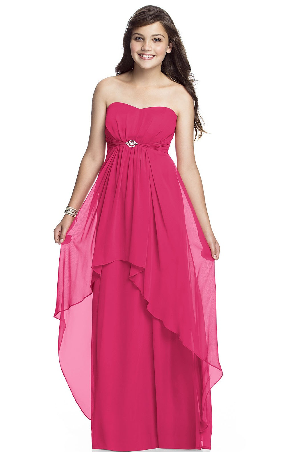 Strapless Zipper A-line Sleeveless Natural Bridesmaid Dresses