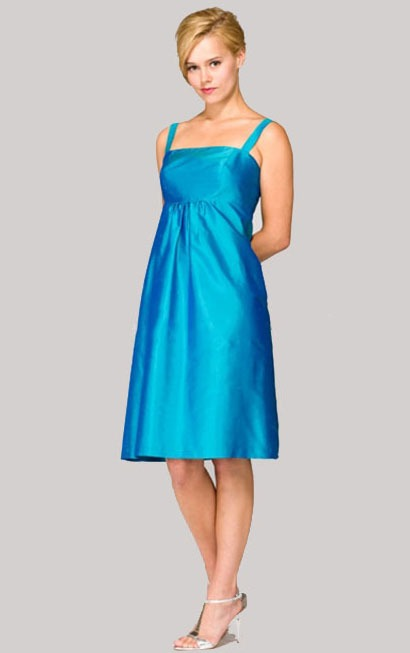 Sleeveless Knee-length A-line Zipper Taffeta Bridesmaid Dresses