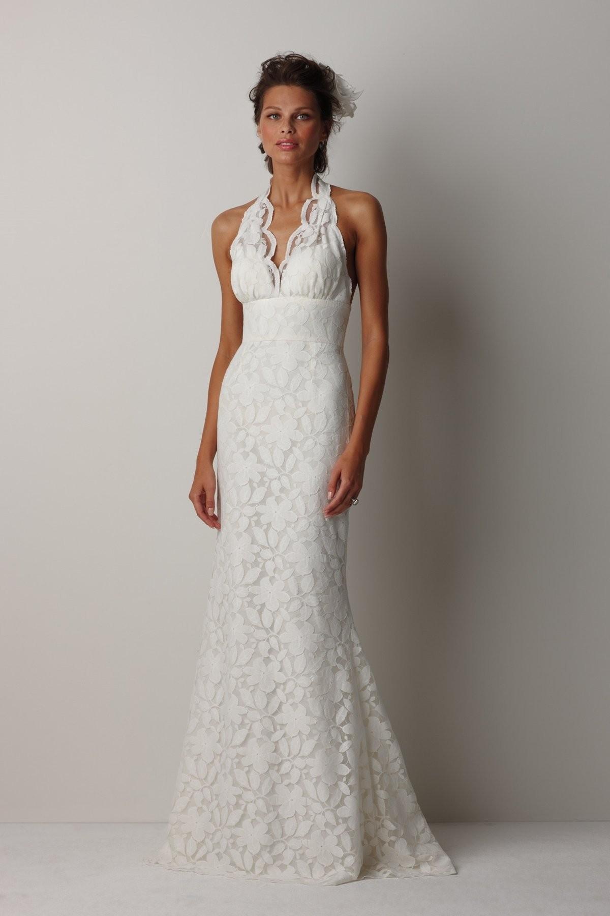 Sheath V Neck Sheath Lace Patterns Wedding Dress