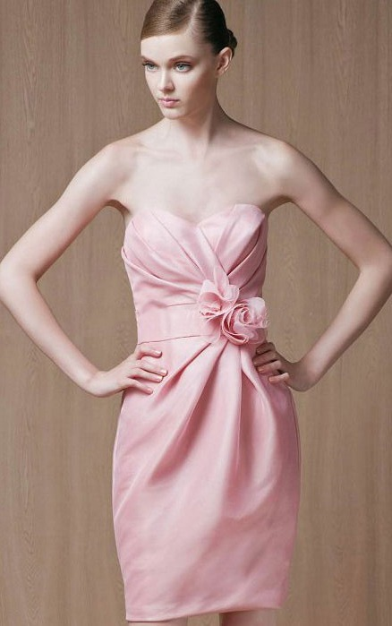 Sleeveless Short Natural Zipper Sweetheart Bridesmaid Dresses