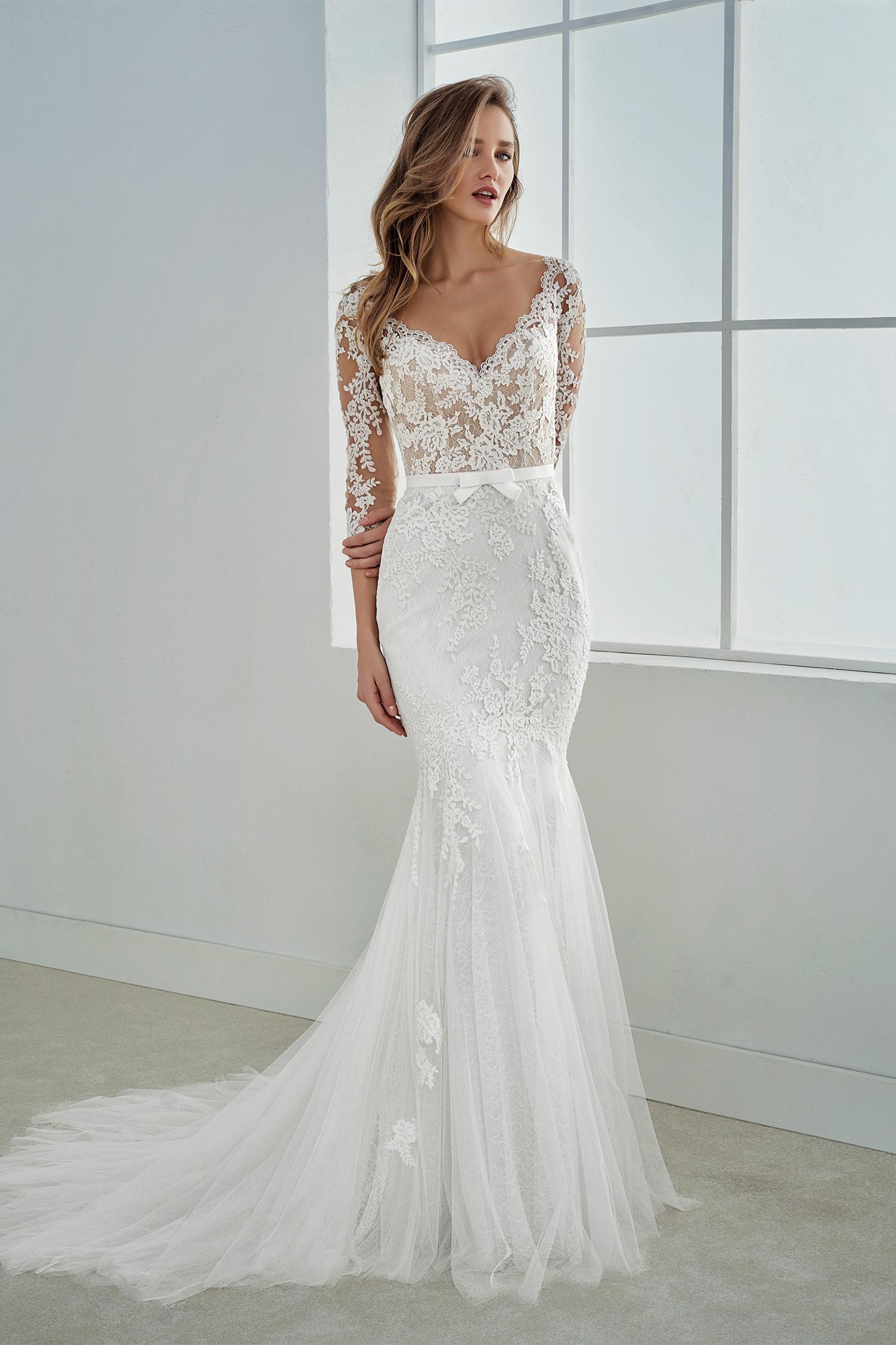 lace arm wedding dress c20af20