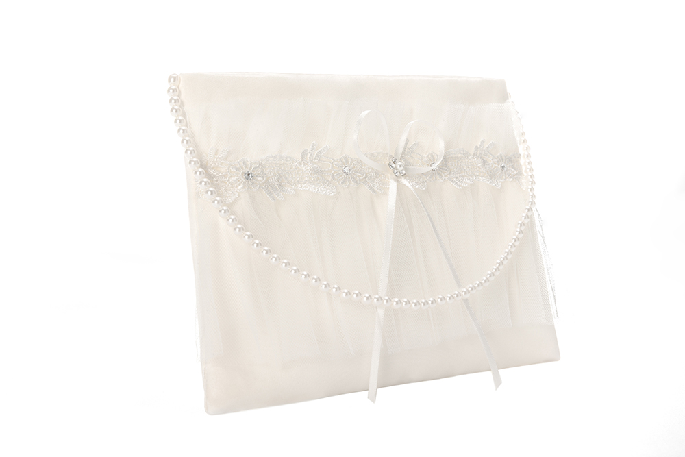 Quality Ivory Girl Bags With Pearl Belt