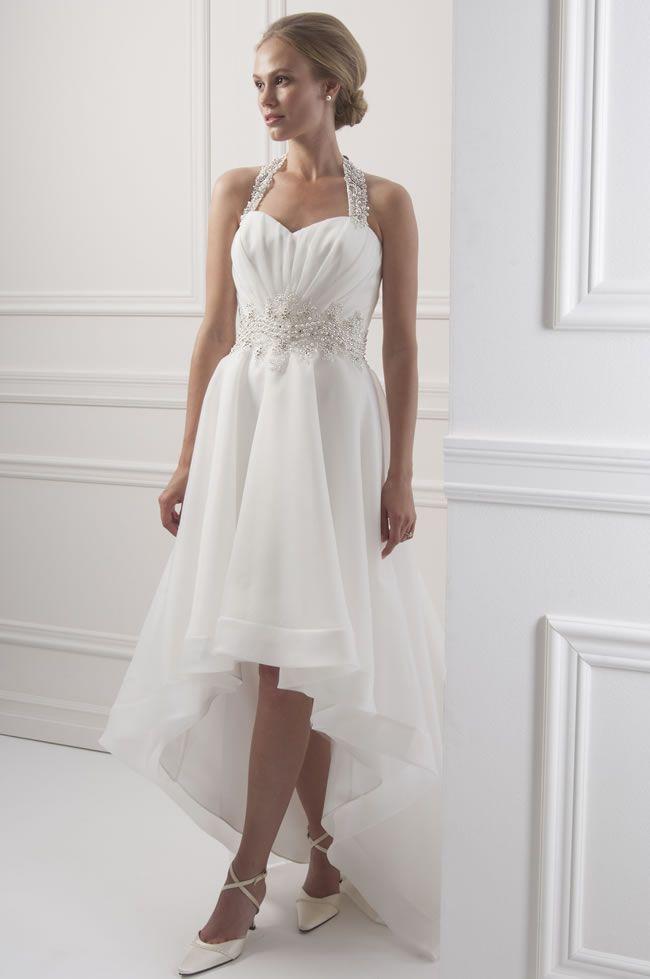 Hem A Lace Wedding Dress : Wedding dresses sexy asymmetrical hem lace appliques haler
