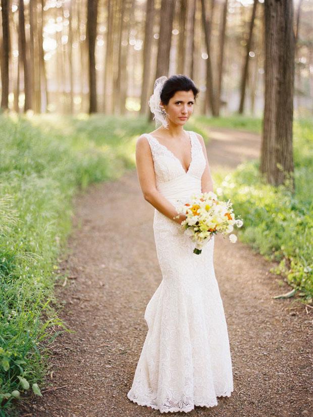 Sheath Wedding Gown Pattern : Shoulder strap v neck sheath lace pattern back wedding dress