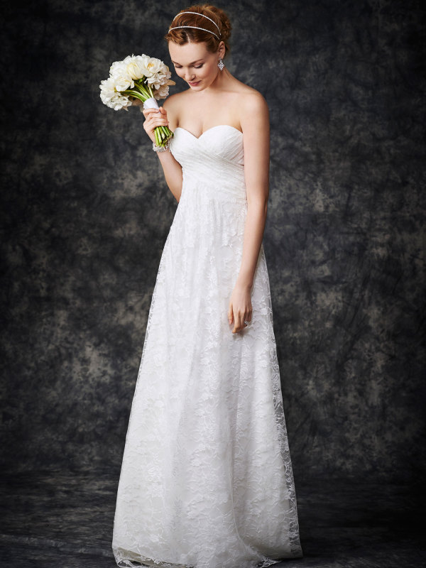 Wedding Dress Patterns Empire Line : Home wedding dresses strapless sweetheart lace patterns a line empire