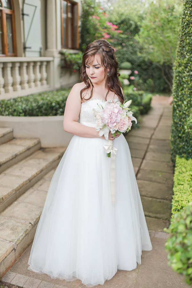 Ball Gown Strapless Sweetheart Lace Bodice Tulle Bridal Dress