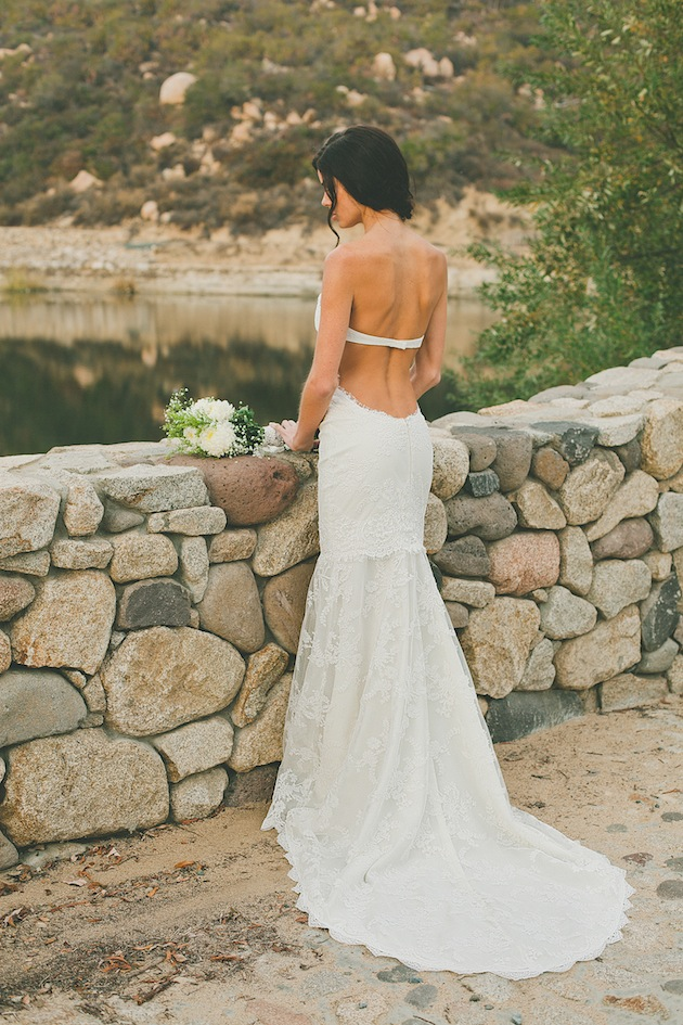 Low Back Strapless Lace Trimmed overlay Tulle Mermaid Wedding Dress