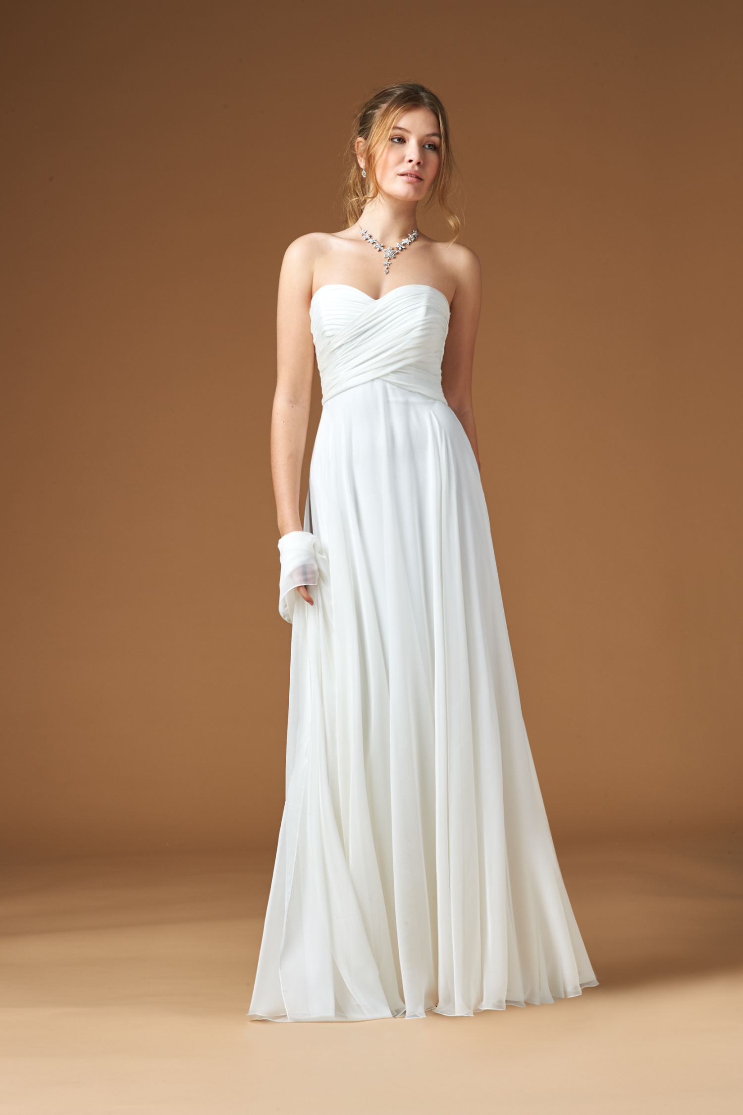 Wedding Dresses Chiffon Strapless Bridesmaid Dresses