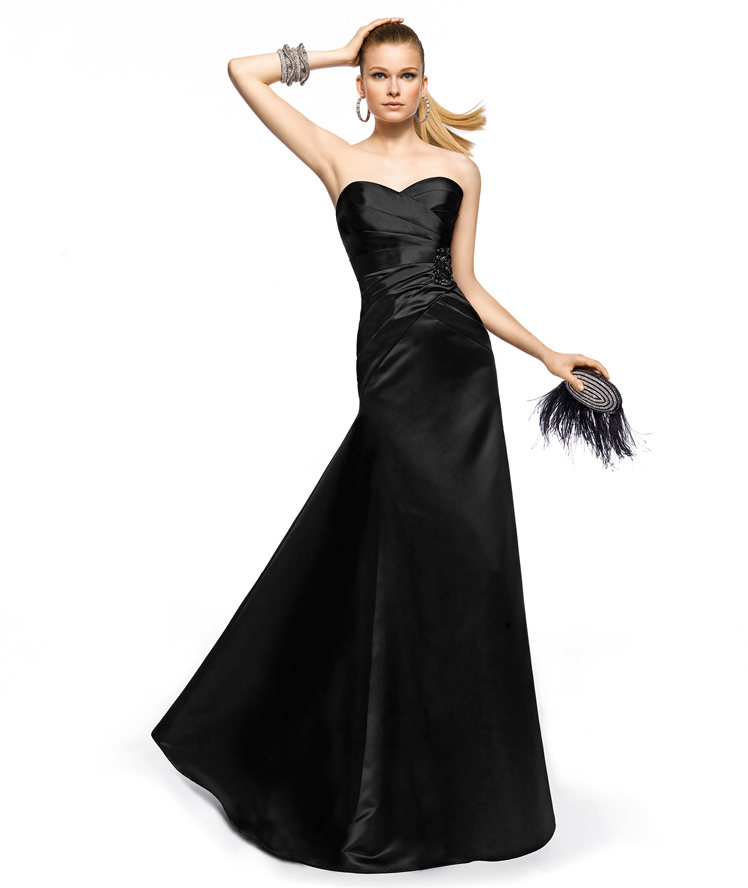 Sexy Trumpet/Mermaid One Shoulder Ruching Floor-length Satin Cocktail Dresses