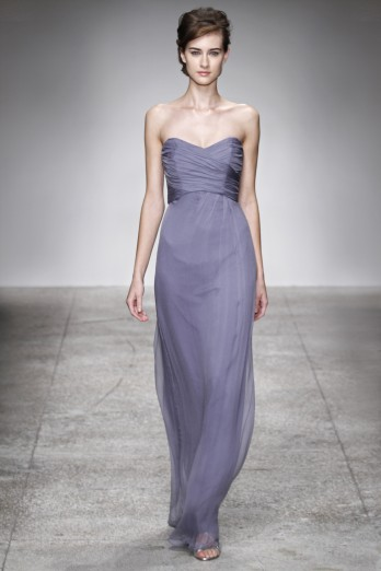 Simple A-line Sweetheart Ruching Floor-length Chiffon Bridesmaid Dress