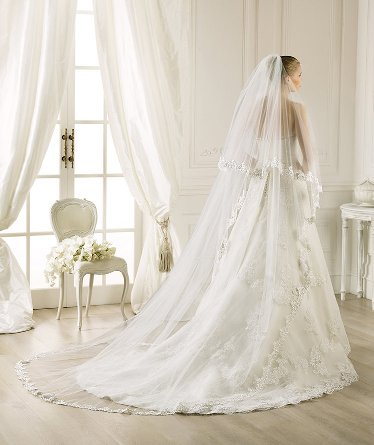Exquisite Two Tiers Lace Tulle Wedding Veils