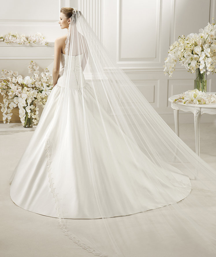 Exquisite One Tier Lace Tulle Wedding Veil