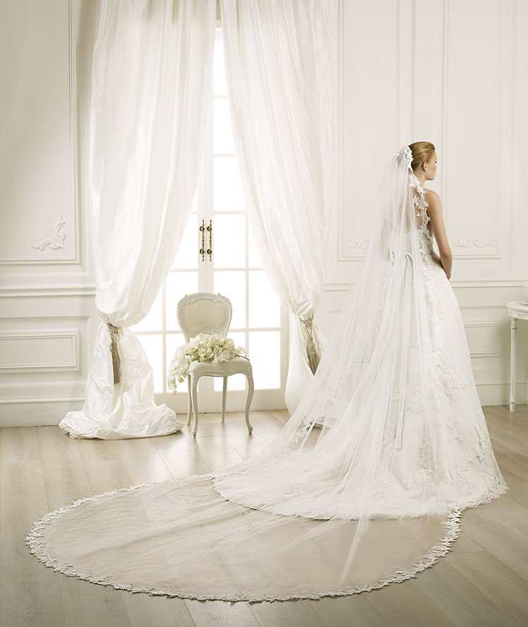 Charming One-tier Lace Tulle Wedding Veils